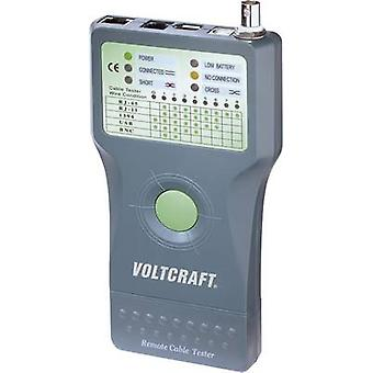 Cable tester VOLTCRAFT CT-5 Suitable for RJ-45, BNC, RJ-11, IEE 1394, USB