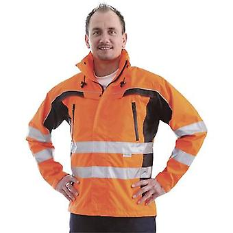 L+D ELDEE 40899 Warning jacket Tambora Fluorescent orange/black Size: XXXL EN ISO 20471:2013, Class 3  EN 343:2003 + A1:2007, Class 2/2