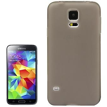TPU kattaa Samsung Galaxy S5 / S5 neo Läpinäkyvä harmaa