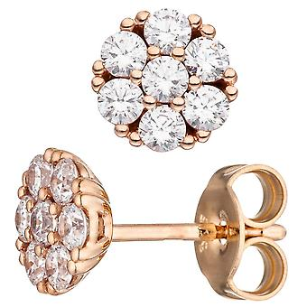 Серьги примерно 333 Золотая Роза золота 14 кубический цирконий серьги розовое золото Серьги