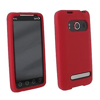 HTC EVO 3G texture Silicone Case - rouge