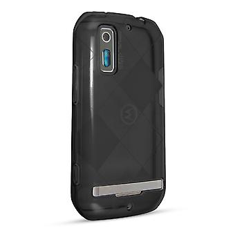 Technocel reglaget hud fall täcka Motorola Photon 4G (svart rök) - MMB855SSBK-Z