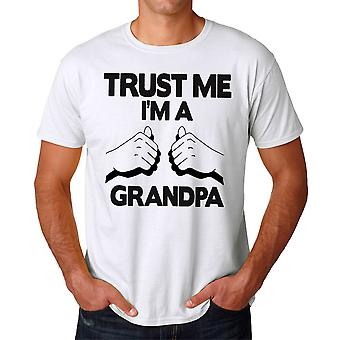 Trust Me I'm A Grandpa Quote Graphic Men's White T-shirt