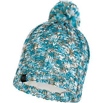 Buff Livy Knitted Bobble Hat in Aqua