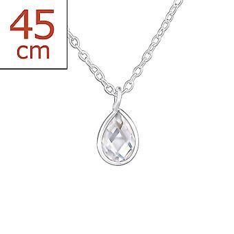 Teardrop - 925 Gümüş Mücevherli Kolyeler - W27926x