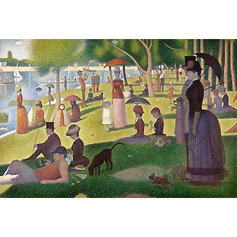 Sunday Afternoon of the Island of La,Georges Seurat,60x40cm