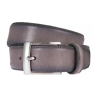 SAKLANI & FRIESE belts men's belts leather belt grey 2048