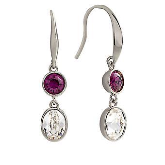 Bertha Jemma Collection Women's 18k WG Plated Purple Dangle Fashion Earrings