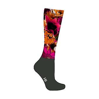 HyFASHION Adults Flower Garden Pattern Riding Socks