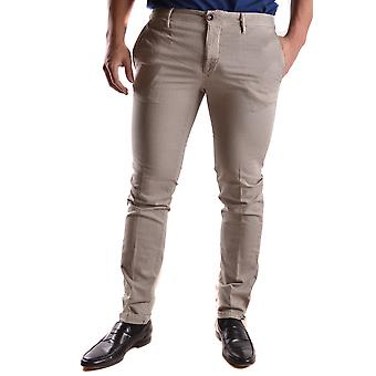 Incotex Ezbc093020 Men's Grey Cotton Pants