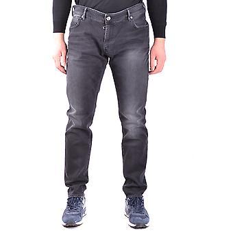 Paolo Pecora Ezbc059013 Men's Black Cotton Jeans