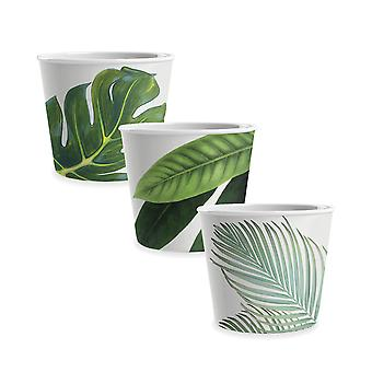 Epicurean Set of 3 Amazon Floral Melamine Ice Cream Bowls