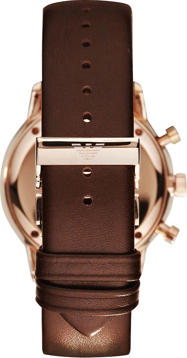Emporio Armani Chronograph Mens Gents Brown Wrist Watch AR0387