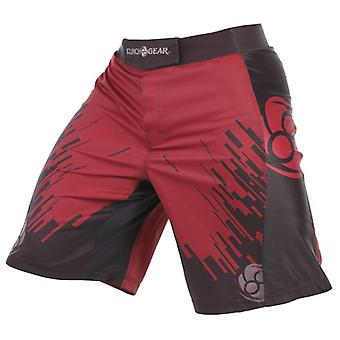 Clinch Gear Mens Flex 2 Amped MMA BJJ Wrestling Fight Shorts - Red