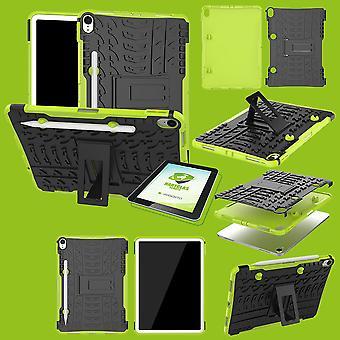 Para Apple iPad iPad de ar 10,5 2019 3 protetora exterior híbrido de Gen cobrir saco verde + 0,4 H9 vidro de proteção