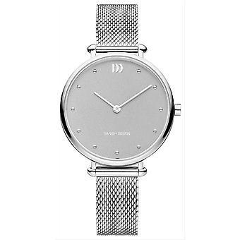 Deens design pure Emily Watch-zilver/grijs