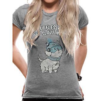 Kobiety's Rick i Morty Snuffles Wyposażone T-Shirt