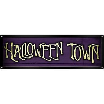 Grindstore Halloween Town Slim Tin Sign