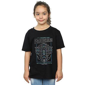 Marvel Girls Fantastic Four Fantasticar camiseta de neón