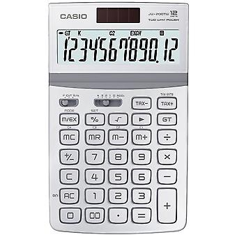 Casio Solar-Powered 12 Digit Disk Calculator with Tilt Display White JW-200TW-WE