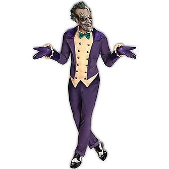 Joker Deluxe Supervillain Bösewicht Batman Arkham City Mens Clownskostüm STD