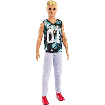 Barbie FXL63 Ken Fashionistas Doll, Petite, Wearing Tropical Malibu Tank