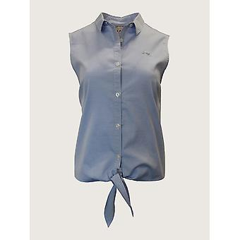 Oxford Sleeveless Shirt - Chambray