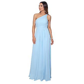 KRISP Frauen Maxi Kleid formal lange Damen Kleid Chiffon Abend Hochzeit Party Größe 8-20