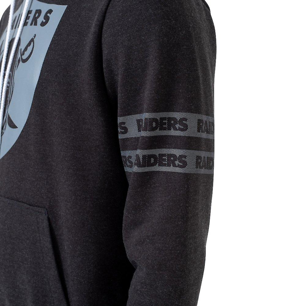 New Era STRIPED Hoody NFL Oakland Raiders heather schwarz