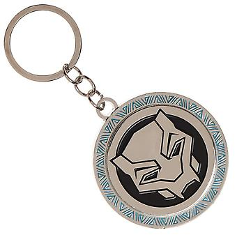 Key Chain - Black Panther - Movie Logo Metal New ke602abpm