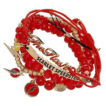 Bracelet - Marvel - Flash Icon Arm Party Set New Licensed bv6r8fdco