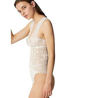 Maison Lejaby 18653 Women's Dot Flowers Lace Bodysuit One Piece Body
