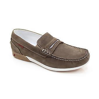 Grisport Basalt Brown Boat Shoe