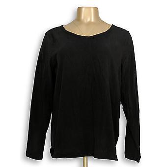 G.I.L.I. tenho que amá-lo mulheres ' s Top Scoop pescoço T-shirt preto A310062