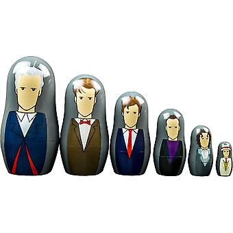 Doctor Who Séptimo-Doceosta Doctor Nesting Doll Set