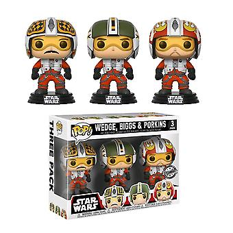 Star Wars Red Squadron Cuneo, Biggs & Porkins US Pop! 3 Pk