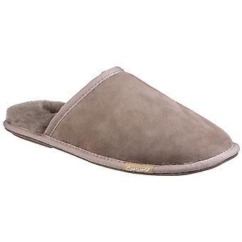 Cotswold Mens Charlbury Suede Leather Fur Lined Slippers
