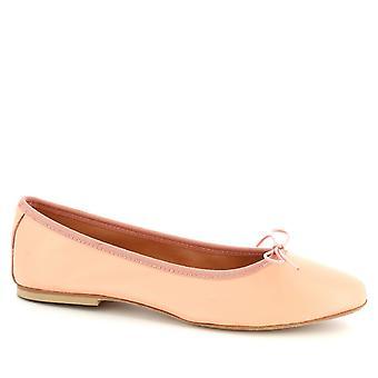 Leonardo Shoes Women's handmade ballet flats shoes in pink calf leather