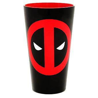 Deadpool Logo Ceramic Pint Glass