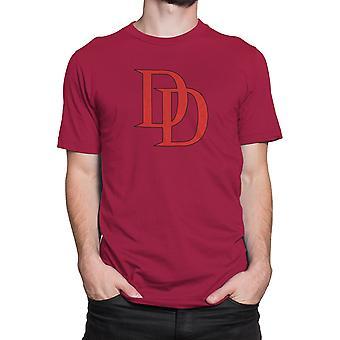 Daredevil Red Logo 30 Einzelnes T-Shirt