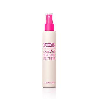 Victoria's Secret Pink Coconut Oil Sheer Cooling Spray Lotion 5 oz / 150 ml (2 Pack)