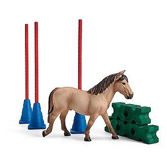 Schleich 42483 boerderij wereld pony slalom