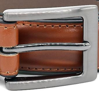 Duke Mens Anthony Square Buckle Edge Stitched Cuir Ceinture