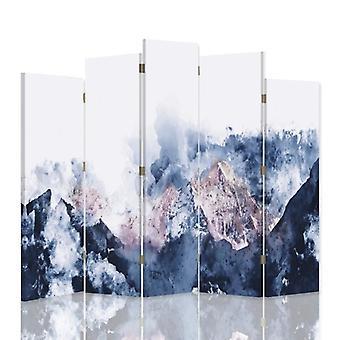 Dekorative Zimmerteiler, 5 Panels, Leinwand, Berglandschaft