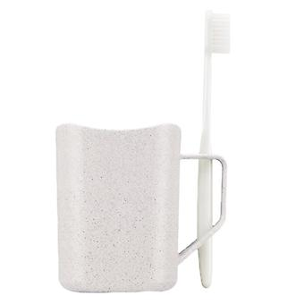 Mug with Holder for toothbrush, white