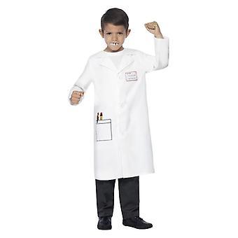 Childrens tandlæge Kit, hvid, med pels og frygtelige tænder Fancy kjole tilbehør