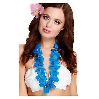 Womens Girls Blue Hawaiian Lei Fancy Dress Accessory