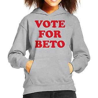 Vote For Beto O'Rourke Kid's Hooded Sweatshirt
