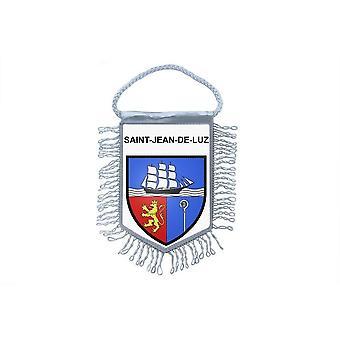 Fanion Mini Drapeau Pays Voiture Souvenir Blason France Saint St Jean De Luz