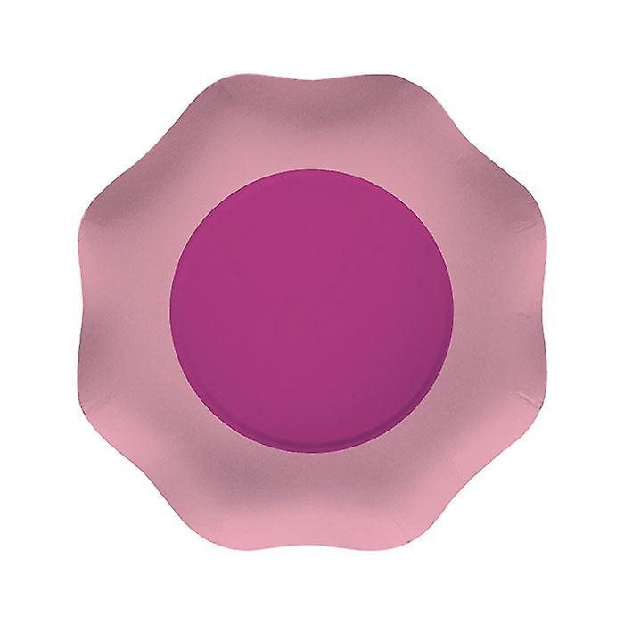 Doppia rosa 18cm sagomato piastre per feste